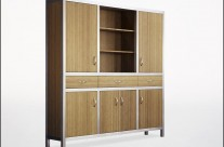 Bamboo & Aluminum Cabinets, tall