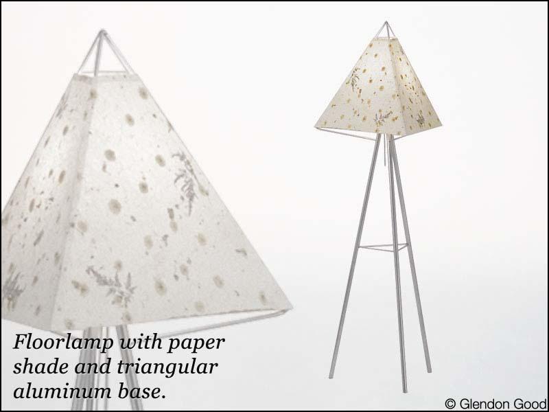 lamp.floor.paper.aluminum