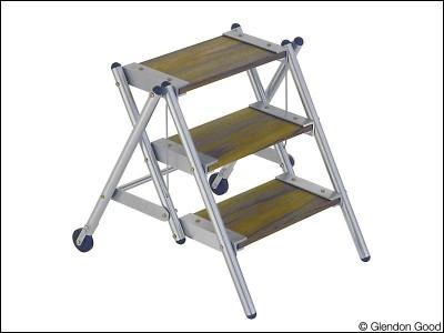 step.ladder.aluminum.wood