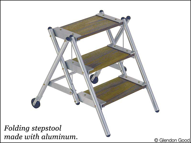 step.ladder.aluminum.wood
