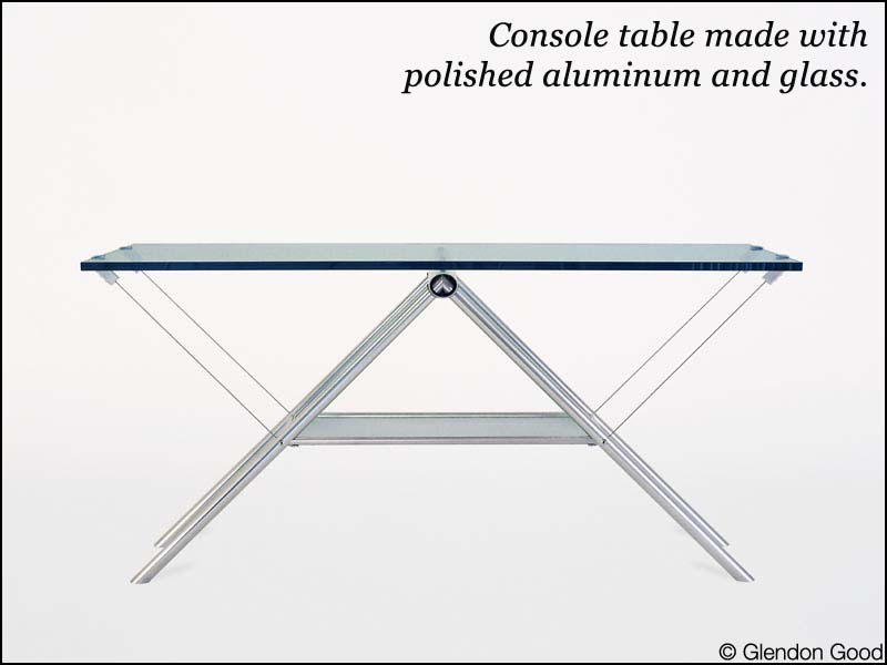 table.antioch.glass.alum.console