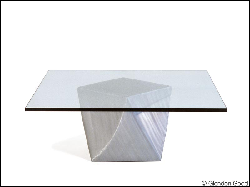Curved cube table base glendon good - Cube table basse ...