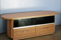 Credenza with Curved Bamboo