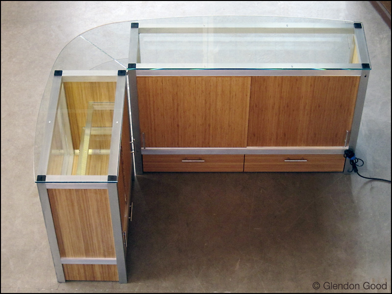 display.cabinet.glass.bamboo.aluminum.7