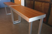 Bamboo & Aluminum Console Tables