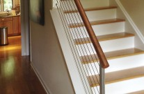 Copper Handrail with Stainless Steel Cables