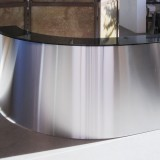 Curving Stainless Steel Reception Desk