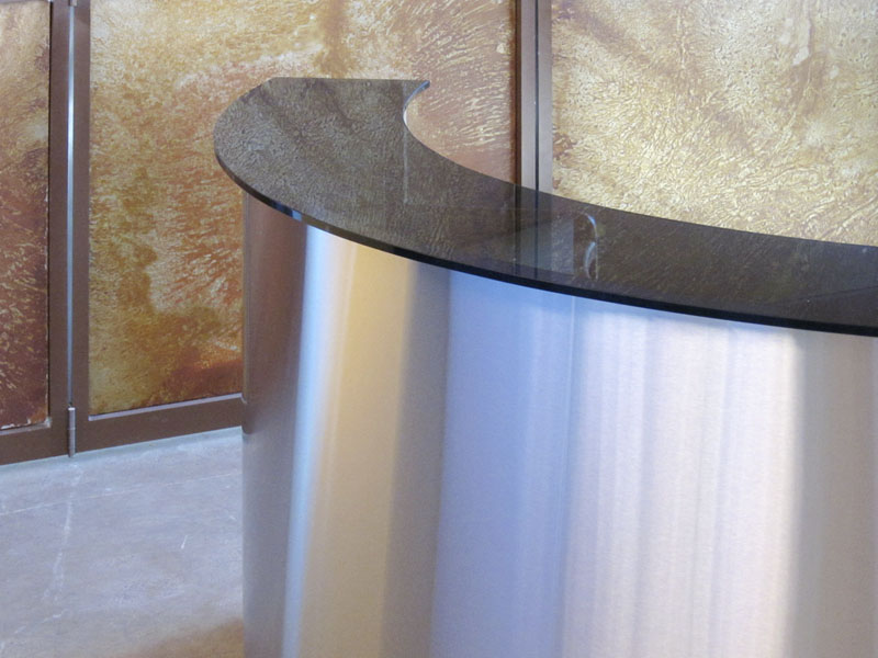 Glass & Stainless Steel Reception Counter
