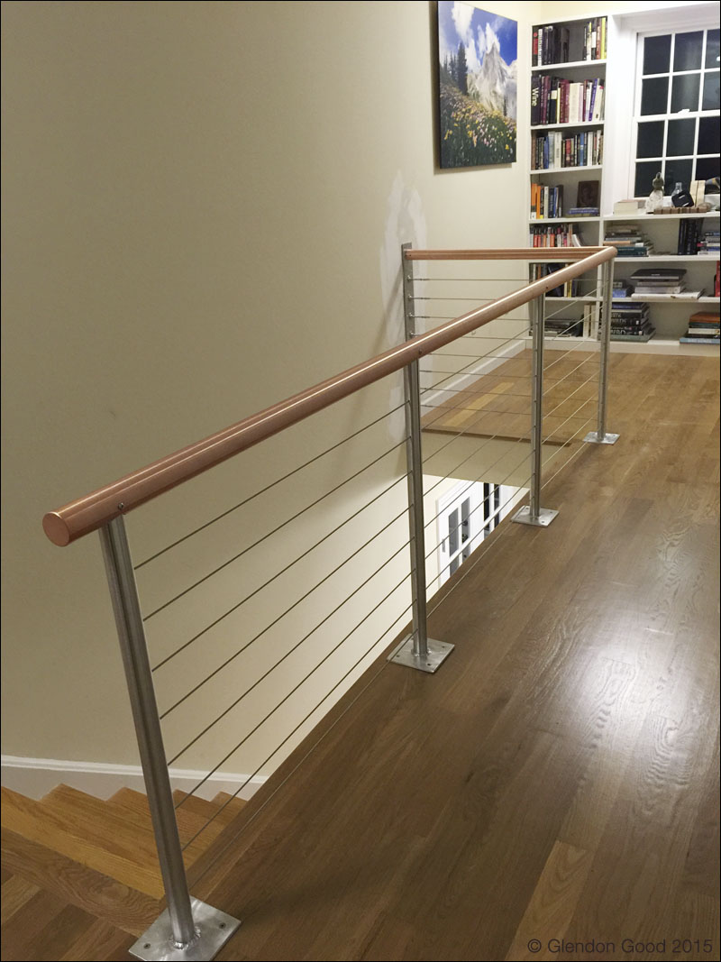 Copper handrail stainless steel cables1