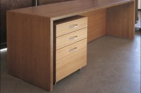 Bamboo Desk & Cabinet