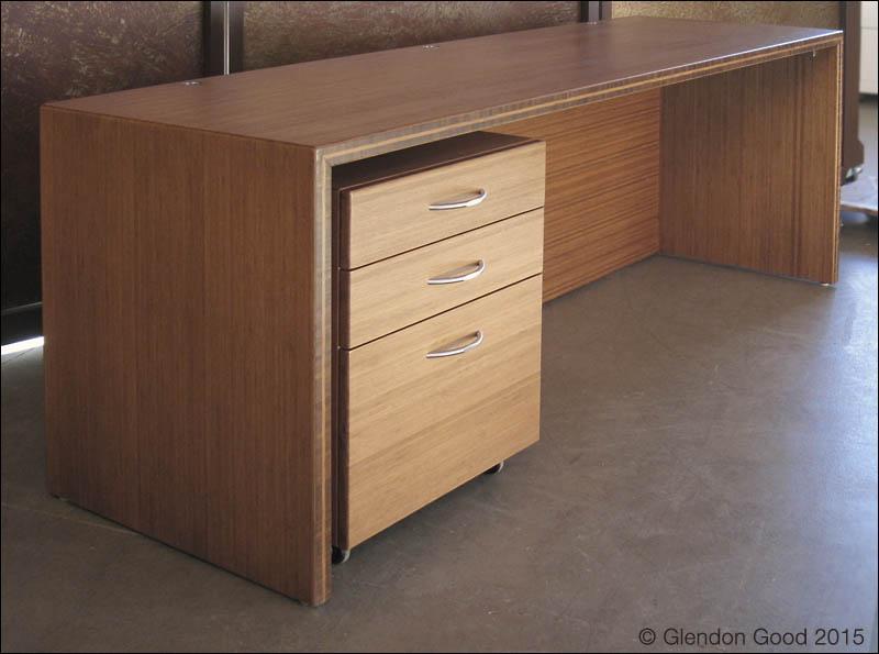 Bamboo Desk Cabinet 1