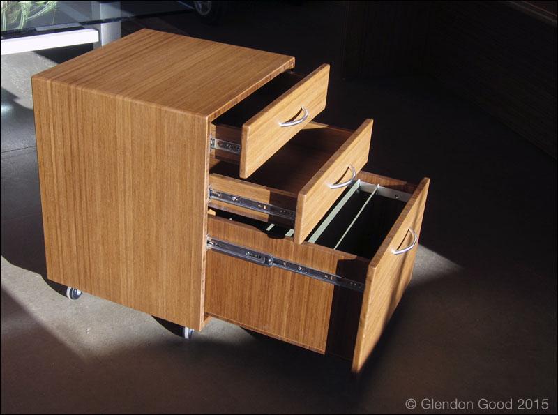 Bamboo Desk Cabinet drawer