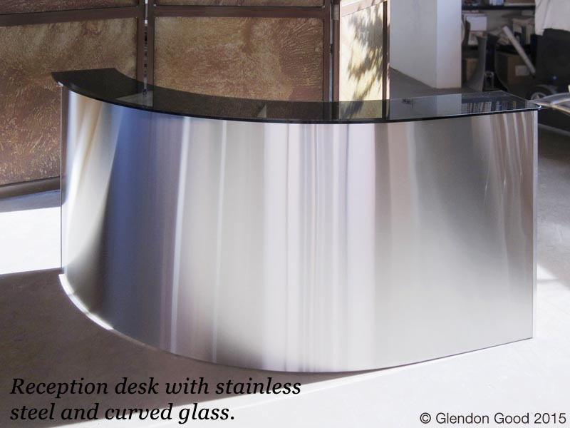 Stainless Steel Reception Desk copy