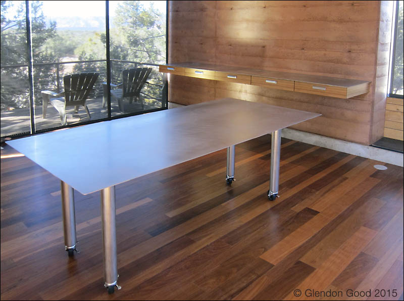 Stainless Steel Table on Wheels